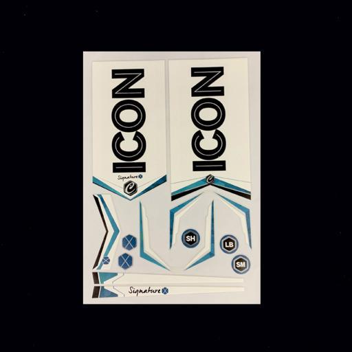 ICON Signature X Cricket Bat Sticker Set