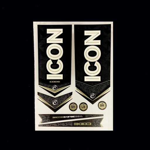 ICON Code Bat Sticker Set 2020